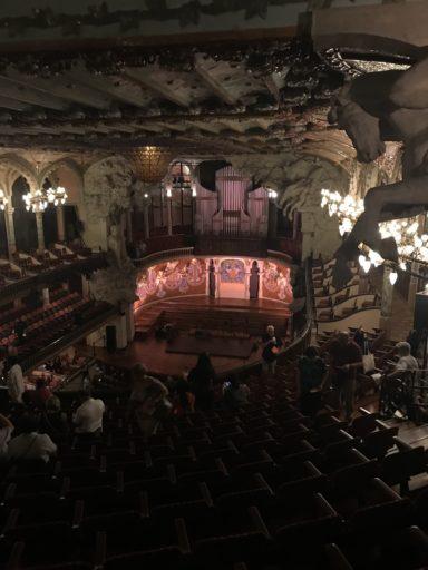 カタルーニャ音楽堂、劇場風景 二回席から