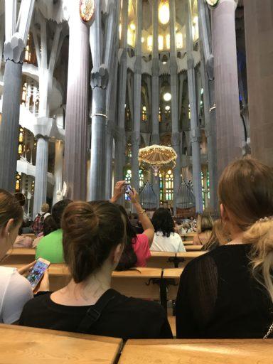 サグラダファミリアの礼拝